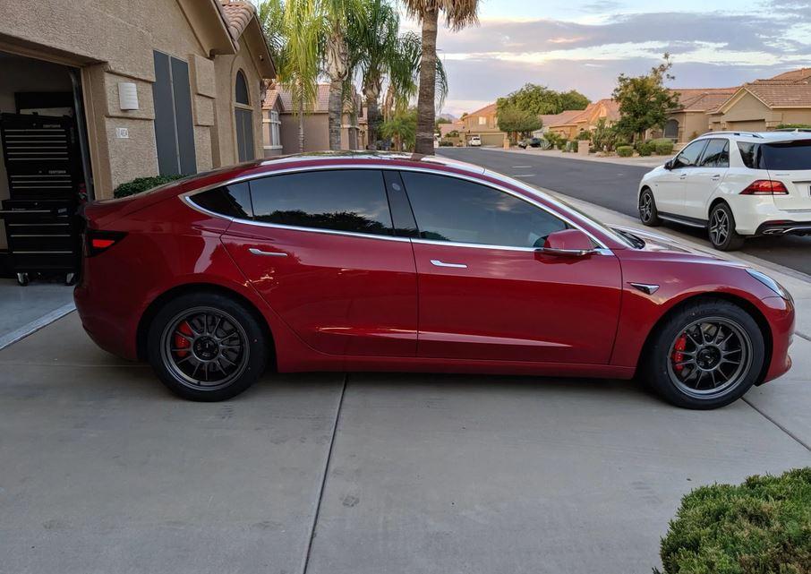 Tesla Model 3 Track tires and wheels - Tesla Model 3 Wiki