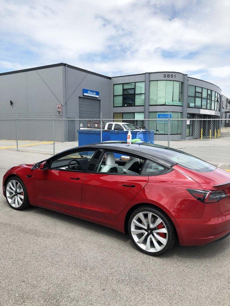 Red Tesla Model 3 Performance with Chrome Delete - Tesla ...