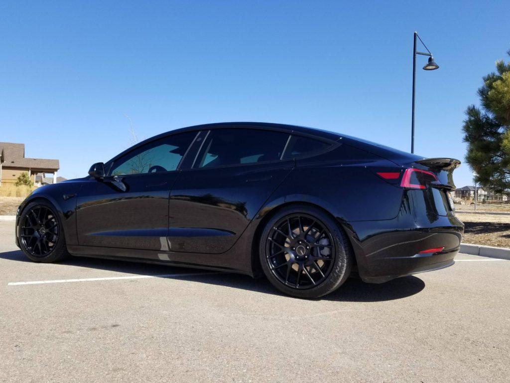 Model 3 SR+ lowered with aftermarket wheels - Tesla Model ...